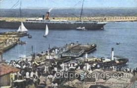 shi058054 - Alger Arrivee du Courrier Transallantique Steamer, Steamers, Ship, Ships Postcard Postcards