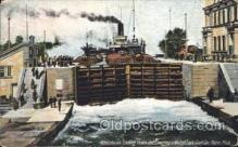 shi058058 - Weitzel Lock Sault Ste. Marie Mich Steamer, Steamers, Ship, Ships Postcard Postcards