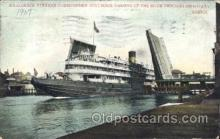 shi058059 - Whaleback Steamer Shristopher Columbus Broadway Bridge Steamer, Steamers, Ship, Ships Postcard Postcards