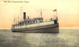 shi058072 - Pilot Boy Corpus Christi Texas, U.S.A Steamer, Steamers, Ship, Ships Postcard Postcards