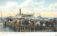 shi058073 - Oak Bluffs Landing Cottage City Mass, U.S.A Steamer, Steamers, Ship, Ships Postcard Postcards