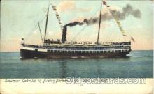 shi058076 - Cabrillo in Avalon Harbor Santa Catalina Island California, U.S.A Steamer, Steamers, Ship, Ships Postcard Postcards