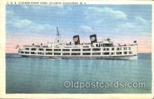 shi058091 - Sandy hook Atlantic Highlands N.J.,U.S.A Steamer, Steamers, Ship, Ships Postcard Postcards