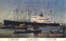 shi058111 - Grance Line Steamer, Steamers, Ship, Ships Postcard Postcards