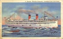 shi058113 - Theodore Roosevelt Steamer, Steamers, Ship, Ships Postcard Postcards