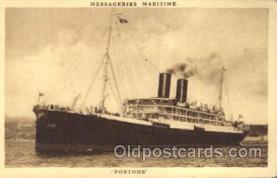 shi058117 - Porthos Steamer, Steamers, Ship, Ships Postcard Postcards