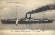shi058119 - Messageries Maritimes Atlantique Steamer, Steamers, Ship, Ships Postcard Postcards
