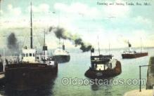 shi058157 - Locks, Soo, Mich, USA Steamer, Steamers, Ship, Ships Postcard Postcards