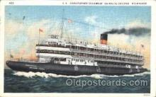 shi058165 - Christopher Columbus Steamer, Steamers, Ship, Ships Postcard Postcards