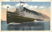 shi058178 - City of Detroit III Steamer, Steamers, Ship, Ships Postcard Postcards