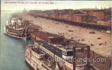shi058191 - Docks & Levee, St. Louis, Mo, USA Steamer, Steamers, Ship, Ships Postcard Postcards