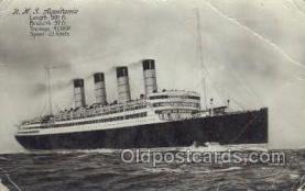 shi058244 - RMS Aquitania Ship Postcard Postcards