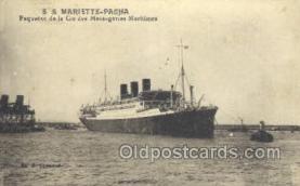 shi058252 - SS Mariette Pacha Ship Postcard Postcards