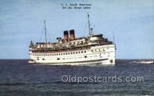 shi058316 - SS North American, The Georgian Bay Line Ship Postcard Postcards
