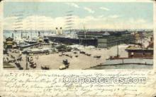 shi058327 - Piers New York White Star Line, Ship Postcard Postcards