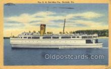 shi058331 - SS Del Mar Va, Norfork, VA USA Ship Postcard Postcards