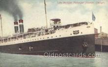 shi058336 - Lake Michigan Passenger Steamer, Chicago Ship Postcard Postcards