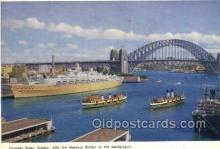 shi058347 - Circular Quay Enlarged Continental Size Ship Postcard Postcards
