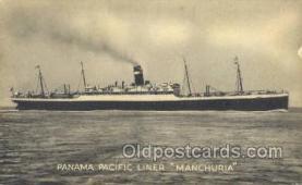 shi058359 - SS Manchuria Ship Postcard Postcards