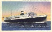 shi058363 - Mallory Liner At Galveston Ship Postcard Postcards