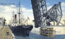 shi058365 - Locks Industrial Canal, New Orleans Ship Postcard Postcards
