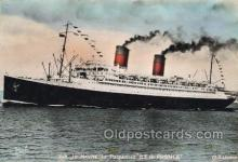 shi058372 - Ile De France Enlarged Continental Size Ship, Ships, Ocean Liner Postcard Postcards