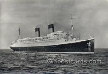 shi058380 - Ile De France, French Line Enlarged Continental Size Ship, Ships, Ocean Liner Postcard Postcards