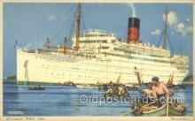 shi058409 - Cunard White Star Ship, Ships, Postcard Post Cards