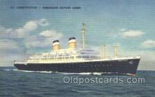shi058430 - SS Consititution Ship, Ships, Postcard Post Cards
