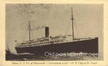 shi058431 - SS City Of St Louis Ship, Ships, Postcard Post Cards