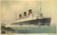 shi058437 - Queen Mary Ship, Ships, Postcard Post Cards
