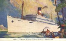 shi058444 - Great White Fleet, United Fruit Company Ship, Ships, Postcard Post Cards