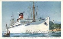 shi058446 - TES Jamaica Ship, Ships, Postcard Post Cards
