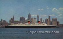 shi058457 - Giant Ocean Liner Hudson River Ship, Ships, Postcard Post Cards