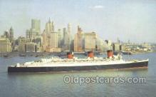 shi058461 - Queen Mary, Cunard White Star Line Ship, Ships, Postcard Post Cards