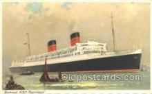 shi058468 - RMS Mauretania Ship, Ships, Postcard Post Cards