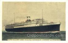 shi058470 - Alogonquin Cherokee and Seminole Ship, Ships, Postcard Post Cards