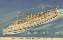 shi058474 - Arrow and Comet Ship, Ships, Postcard Post Cards