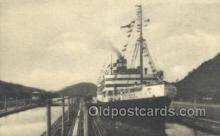 shi058492 - Passing Through the Canal Locks Ship, Ships, Postcard Post Cards