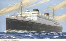 shi058497 - Britannic Ship, Ships, Postcard Post Cards