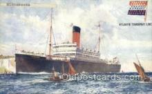 shi058503 - SS Minnewaska, Atlantic Transport Line Ship, Ships, Postcard Post Cards