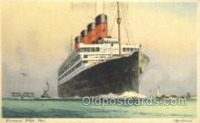 shi058507 - Aquitania, Cunard White Star Ship, Ships, Postcard Post Cards