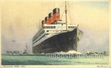 shi058508 - Aquitania, Cunard White Star Ship, Ships, Postcard Post Cards
