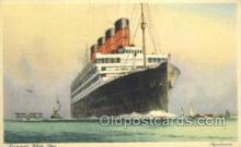shi058509 - Aquitania, Cunard White Star Ship, Ships, Postcard Post Cards