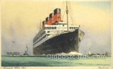 shi058510 - Aquitania, Cunard White Star Ship, Ships, Postcard Post Cards