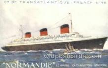shi058516 - Normandie, French Line Ship, Ships, Postcard Post Cards