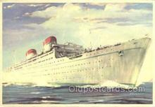 shi058533 - Italia Enlarged Continental Size Ship, Ships, OceanLiner Postcard Postcards