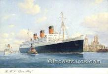 shi058540 - Queen Mary Enlarged Continental Size Ship, Ships, OceanLiner Postcard Postcards