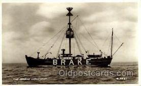 shi060004 - The Brake Lightship Light Ship, Ships Postcard Postcards