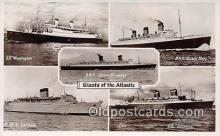 shi062008 - SS Washington, RMS Caroina Atlantic Ship Postcard Post Card